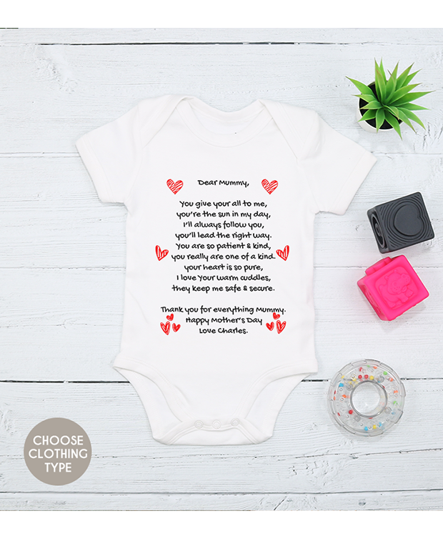 Personalised Mother's Day outfit
