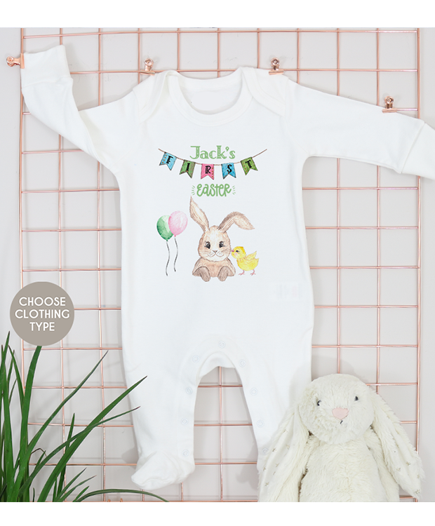 First Easter Woodland Baby Grow