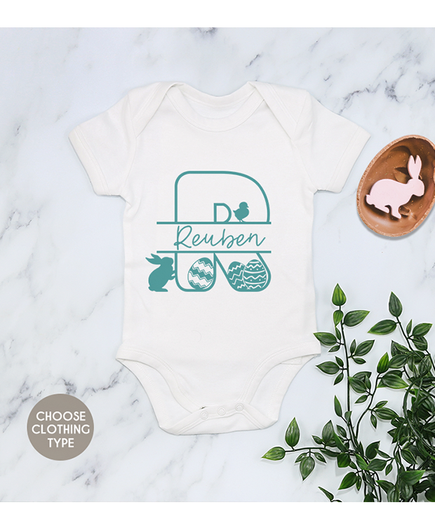 Easter Theme Initial Baby Grow