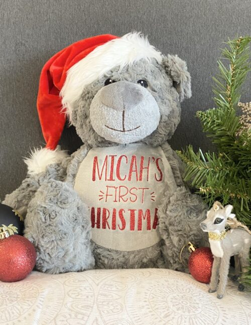 Personalised First Christmas Teddy Bear